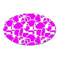 Series In Pink B Oval Magnet