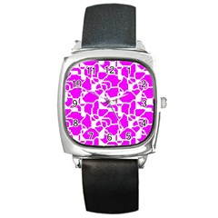 Series In Pink B Square Metal Watch