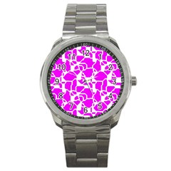 Series In Pink B Sport Metal Watch