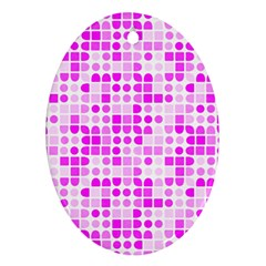 Series In Pink C Oval Ornament (two Sides)