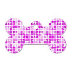 Series In Pink C Dog Tag Bone (two Sides)