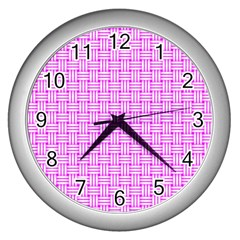 Series In Pink D Wall Clock (silver)