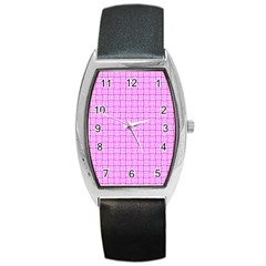Series In Pink D Barrel Style Metal Watch