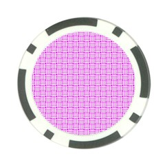 Series In Pink D Poker Chip Card Guard (10 Pack)
