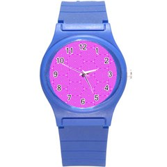Series In Pink E Round Plastic Sport Watch (s) by MoreColorsinLife