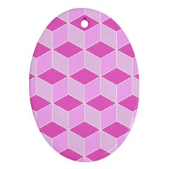 Series In Pink F Ornament (oval)