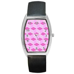 Series In Pink F Barrel Style Metal Watch