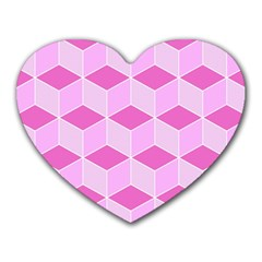 Series In Pink F Heart Mousepads