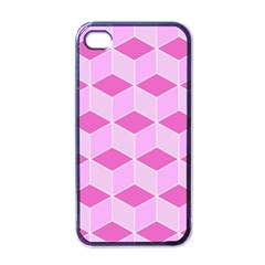Series In Pink F Apple Iphone 4 Case (black)