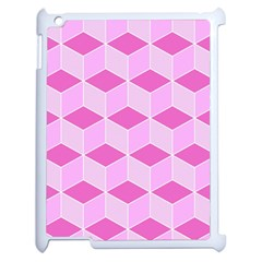 Series In Pink F Apple Ipad 2 Case (white) by MoreColorsinLife