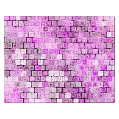 Series In Pink G Rectangular Jigsaw Puzzl