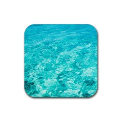 Ocean Blue Waves  Rubber Coaster (square)