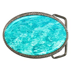 Ocean Blue Waves  Belt Buckles