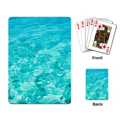 Ocean Blue Waves  Playing Card