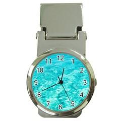 Ocean Blue Waves  Money Clip Watches