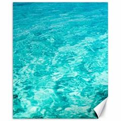 Ocean Blue Waves  Canvas 16  X 20