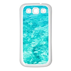 Ocean Blue Waves  Samsung Galaxy S3 Back Case (white)