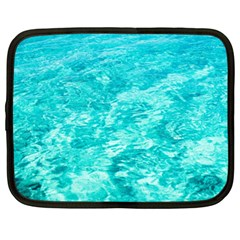 Ocean Blue Waves  Netbook Case (xxl)  by CrypticFragmentsColors
