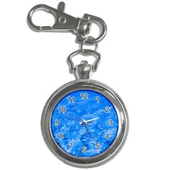 Ocean Blue Waves Abstract Cobalt Key Chain Watches