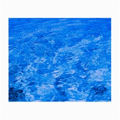 Ocean Blue Waves Abstract Cobalt Small Glasses Cloth