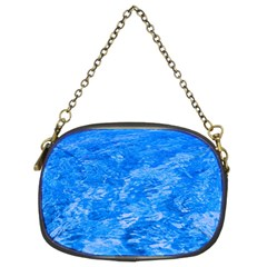 Ocean Blue Waves Abstract Cobalt Chain Purses (two Sides)