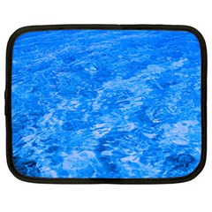 Ocean Blue Waves Abstract Cobalt Netbook Case (xl)