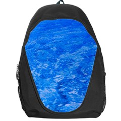 Ocean Blue Waves Abstract Cobalt Backpack Bag