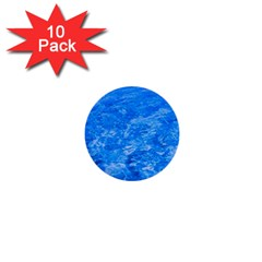 Ocean Blue Waves Abstract Cobalt 1  Mini Buttons (10 Pack)
