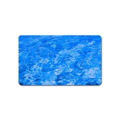 Ocean Blue Waves Abstract Cobalt Magnet (name Card)