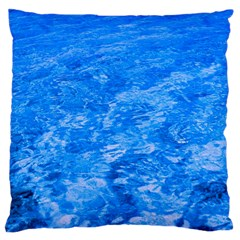 Ocean Blue Waves Abstract Cobalt Large Cushion Case (two Sides)