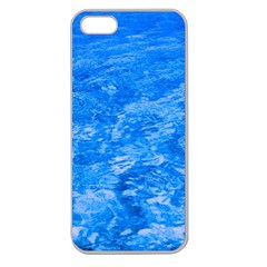 Ocean Blue Waves Abstract Cobalt Apple Seamless Iphone 5 Case (clear)