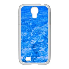 Ocean Blue Waves Abstract Cobalt Samsung Galaxy S4 I9500/ I9505 Case (white)
