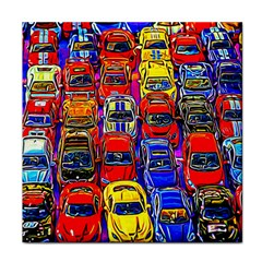 Colorful Toy Racing Cars Tile Coasters