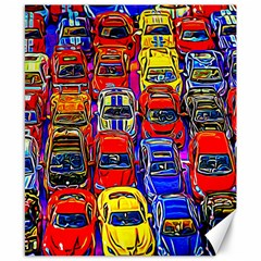 Colorful Toy Racing Cars Canvas 8  X 10