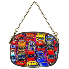 Colorful Toy Racing Cars Chain Purses (one Side)