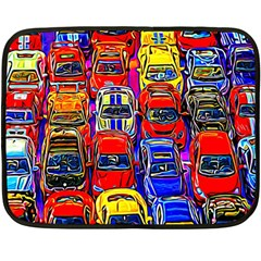 Colorful Toy Racing Cars Double Sided Fleece Blanket (mini)