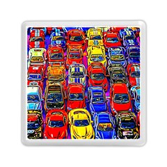 Colorful Toy Racing Cars Memory Card Reader (square)