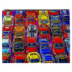 Colorful Toy Racing Cars Cosmetic Bag (xxxl)