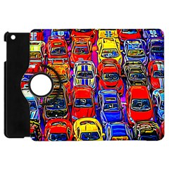 Colorful Toy Racing Cars Apple Ipad Mini Flip 360 Case