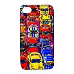 Colorful Toy Racing Cars Apple Iphone 4/4s Hardshell Case With Stand