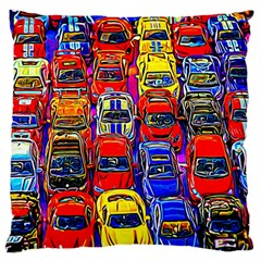 Colorful Toy Racing Cars Standard Flano Cushion Case (two Sides) by FunnyCow
