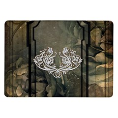 Wonderful Decorative Dragon On Vintage Background Samsung Galaxy Tab 10 1  P7500 Flip Case