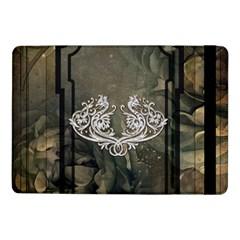 Wonderful Decorative Dragon On Vintage Background Samsung Galaxy Tab Pro 10 1  Flip Case by FantasyWorld7