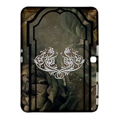 Wonderful Decorative Dragon On Vintage Background Samsung Galaxy Tab 4 (10 1 ) Hardshell Case  by FantasyWorld7