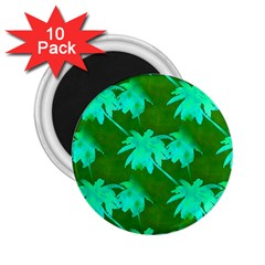Palm Trees Island Jungle 2 25  Magnets (10 Pack)