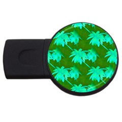 Palm Trees Island Jungle Usb Flash Drive Round (2 Gb)