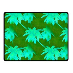 Palm Trees Island Jungle Fleece Blanket (small)