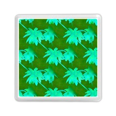 Palm Trees Island Jungle Memory Card Reader (square)