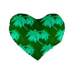 Palm Trees Island Jungle Standard 16  Premium Heart Shape Cushions