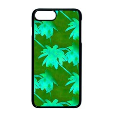 Palm Trees Island Jungle Apple Iphone 7 Plus Seamless Case (black)